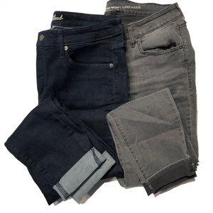 Bundle crop ankle?  jeans 14 super skinny
